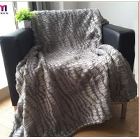 Sherpa blanket with glue printing
