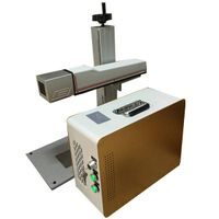 stainless steel and carbon steel fiber color laser marking machine price F-20 for colored printing