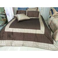 Feather/PU bedspread set