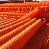 MPP Corrugated Communications Insulation Cable Pipe for Electric Protection