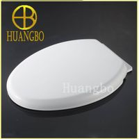 Bathroom custom made elongated soft close high quality plastic toilet seat cover