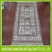 Chinese wool and silk hand tufted carpet rugs, handmade carpet