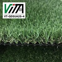 Landscaping decorative thick green artificial grass VT-QDSUA25-4 thumbnail image