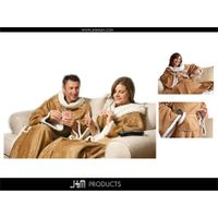Faux Suede Blanket with Sleeves and with Sherpa Lining thumbnail image
