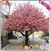 artificial cherry blossom tree plastic flower tree for wedding decor