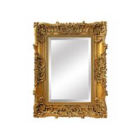 Elegant Golden Wooden Mirror Frame