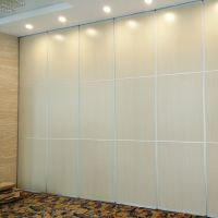 Temporary Movable Sliding Partition Wall With Flush Door Handle