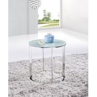 SHIMING FURNITURE MS-3368 tempered glass with stainless steel small side table thumbnail image