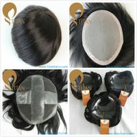 high quality human hair toupee with factory price