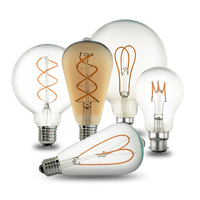 Curly/Spiral Filament Led Bulb