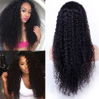 YSwigs Brazilian Human Hair 200% Density Curly 360 Lace Wigs Pre-Plucked For Black Women thumbnail image