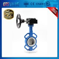 PTFE seated wafer type butterfly valve