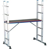 Multifunction Aluminum Ladder with Wood Work Platform and GS Mark thumbnail image