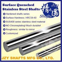 SUS400 series stainless steel hardened linear shafts with HRC56-58 similar to mirror surface