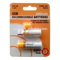 High Performance 1.2V AA Rechargeable Battery with LED Indicator