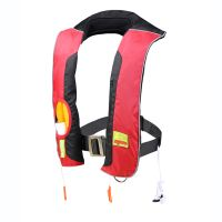 Double chamber inflatable life jacket