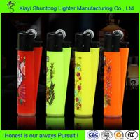 Colorful Transparent Gas Plastic Clipper Lighter