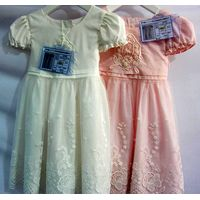 Summer Short Sleeve Formal Party Kids Wear Lace Maxi Dresses thumbnail image