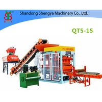 QT5-15 Full automatic hydraulic concrete block production line for cement blocks and interlocking br thumbnail image