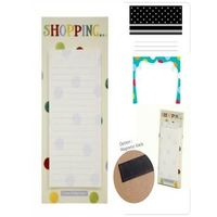Shopping List pad with magnet back
