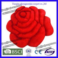 flower shape rose carpet with red color