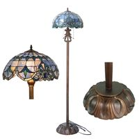Tiffany style baroque floor lamp leaded stained glass floor light thumbnail image