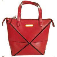 Wholesale cheap price high quality black Lichi grain PU leather tote handbag thumbnail image