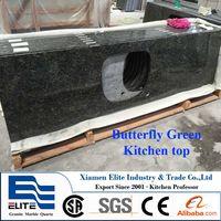 Butterfly Green Granite Kitchen Countertop