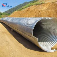 Galvanized corrugated steel pipe culvert