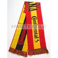 promotion acrylic jacquard football fans scarf