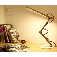 MODENG Personality style elegant electrodeless touch dimmer led wood lamp with eyes protection and l