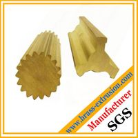 solid copper sanitary parts extrusion profiles of brass gears parts sections