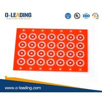 2layer rigid PCB with red soldermask and thin board thickness 0.15mm