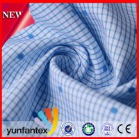 2016 wholesale fabric 100 cotton korean men shirt cotton yarn dyed shirt fabric