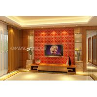 classic retro 3D leather carved wall panle board