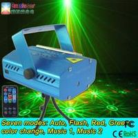 mini laser light six patterns effect party light with mp3 player stage light wholesale