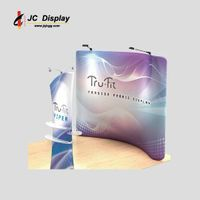Waveline Tension Fabric Exhibit Display Stand