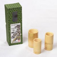 wato 3-piece Bamboo Cupping Jar Set in Various Sizes thumbnail image