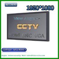 cctv monitor 42 inch led monitor with hdmi, vga. bnc input
