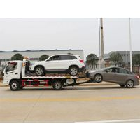 Foton Aumark Light Flatbed Platform Wrecker One Towing Two Road Car Rescue Towing Truck thumbnail image