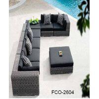 FCO-2604patio wicher sofa outdoor sectional rattan sofa set