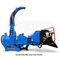 """Wallenstein (7"""") 540-1000 RPM PTO Chipper w/ Hydraulic Feed & Intellifeed System - Blue"""