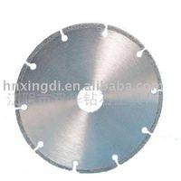 Coated diamond saw blade