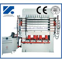 High frequency plywood mulitlayer short cycle melamine press line
