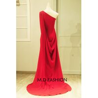 2016 New Design Italian Stretch Satin One-Shoulder Sheath Column  A-Line Floor Length Banquet Perfor