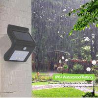 waterproof super bright solar wall sensor light thumbnail image