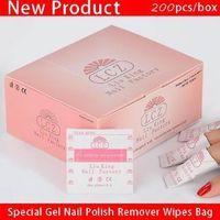 Professional nail supplier Nail tools special simple gel nail polish remover wipes bag (200pcs/box)