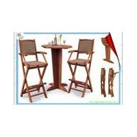 wooden bar chairs and table thumbnail image
