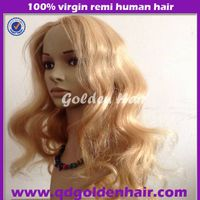 Golden Hair 5A High Quality Long Blonde Human Hair Wig For Women