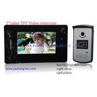 7 inch color video door phone,SD card memory
